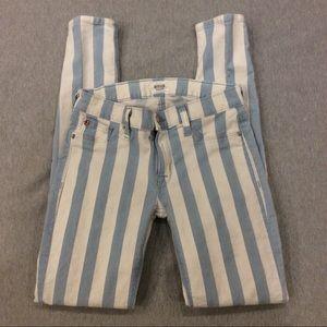 Hudson Krista striped jeans NWOT